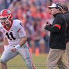 Jake Fromm (11) and Kirby Smart