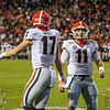 Eli Wolf (17) and Jake Fromm (11)