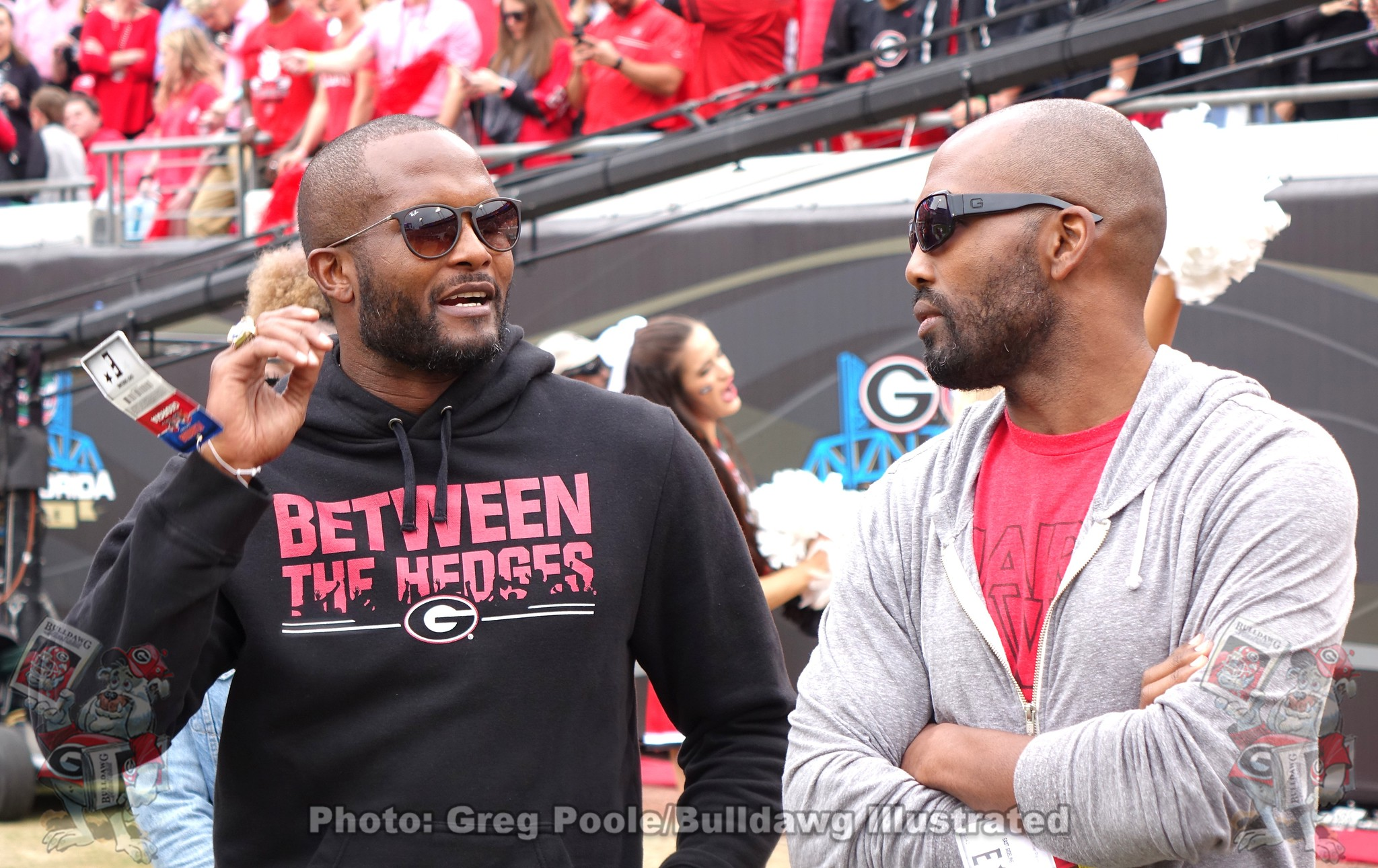 Champ Bailey (left) during the 2019 Georgia vs. Florida game.