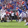 Looking down an SEC battle line, the line of scrimmage
