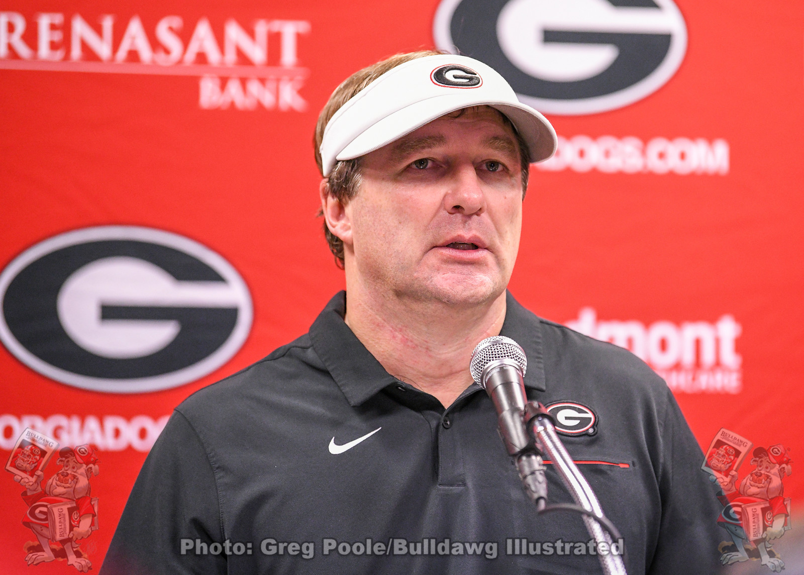 Kirby Smart during his post-Georgia-Florida game press conference on Saturday, November 2, 2019, from TIAA Bank Field in Jacksonville