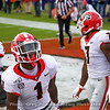 George Pickens (1) and D'Andre Swift (7)
