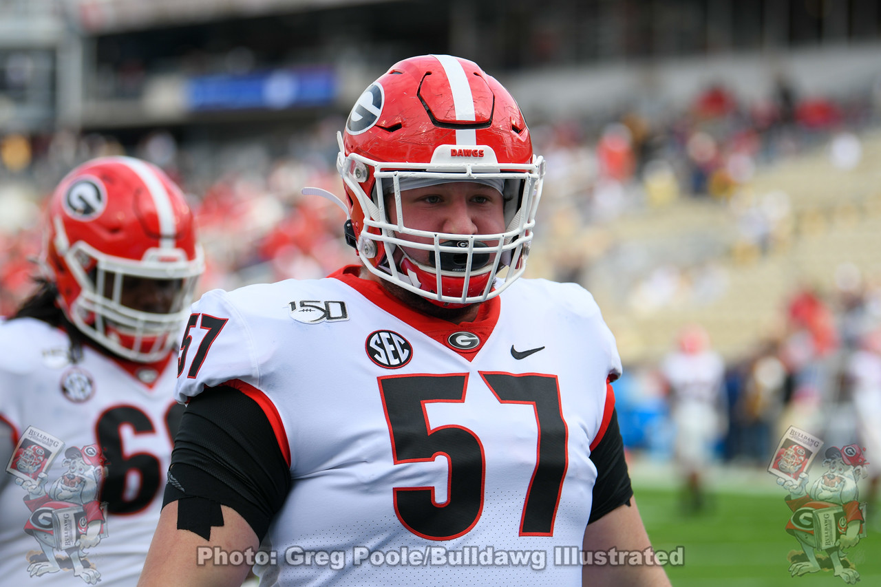 Daniel Gothard (57) | Georgia vs. Georgia Tech - Pregame | November 30, 2019