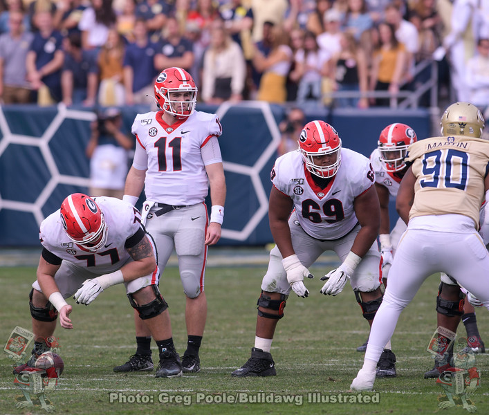 Jake Fromm (11) and Jamaree Salyer (69)