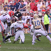 D'Andre Swift (7) fumbles after a Yellow Jacket defender puts his hat on the ball