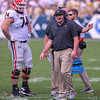 Ben Cleveland (74) and Kirby Smart
