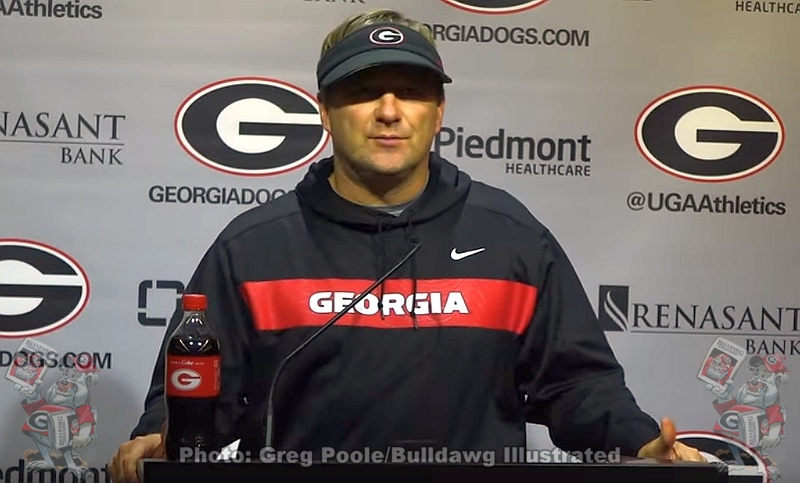 Kirby Smart during the Tuesday's post-practice press conference on November 26, 2019