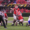 Jake Fromm (11) and Trey Hill (55)
