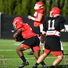 D'Andre Swift (7) and Jake Fromm (11)