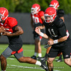 Brian Herrien (35) and Jake Fromm (11)
