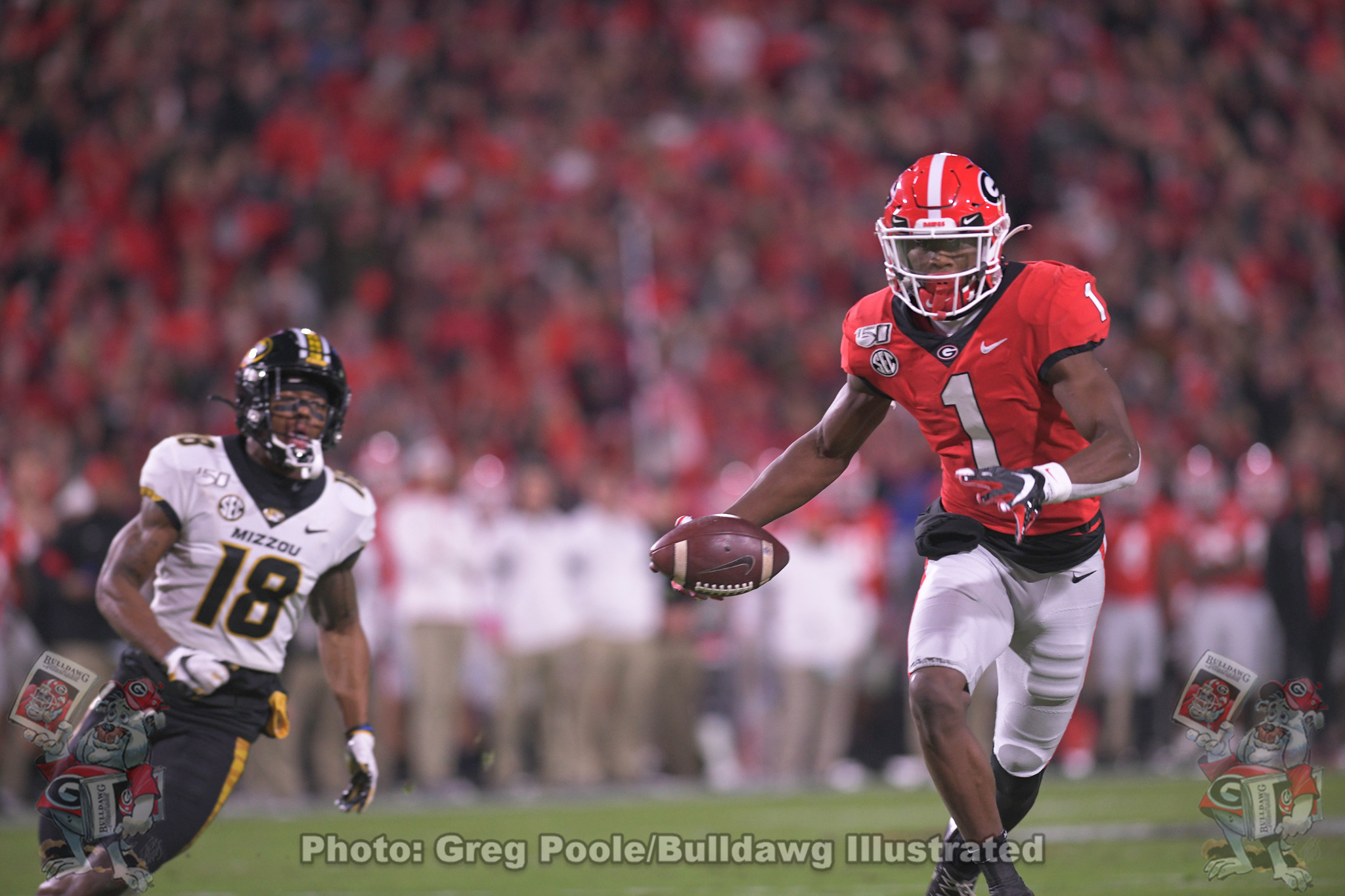 George Pickens (1) - Georgia vs. Missouri 2019 - November 09, 2019 - First Quarter