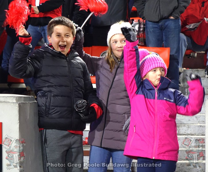 Some young Georgia fans
