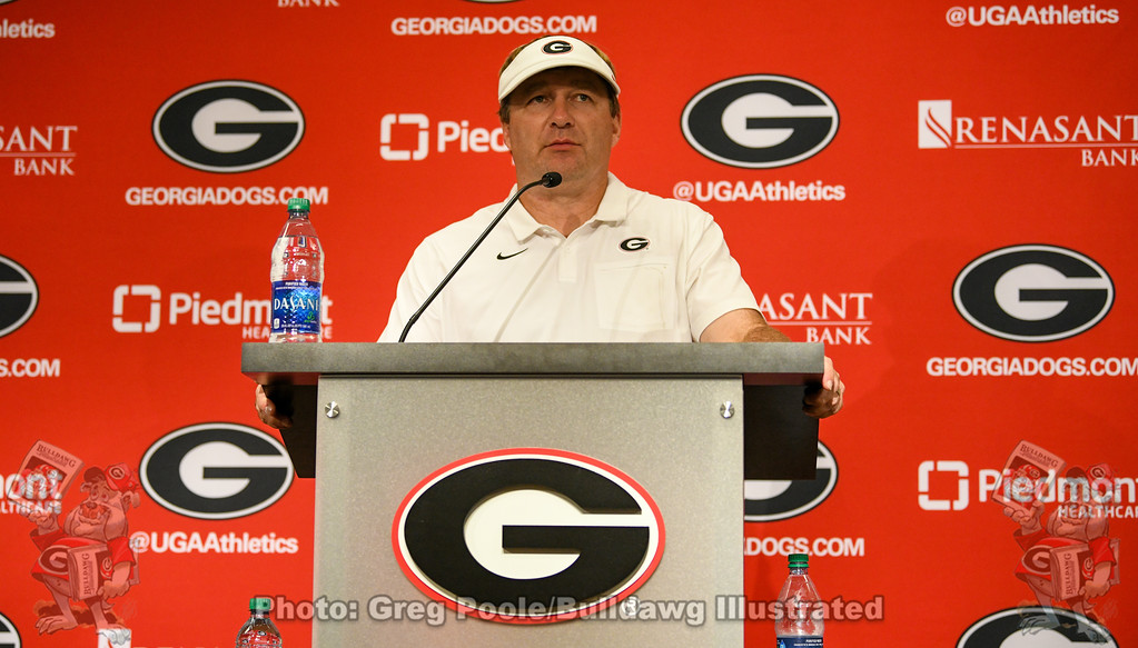 Kirby Smart during the UGA vs. Murray State post-game press conference, Saturday, Sept. 7, 2019