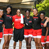 Coach Joni Taylor and members of the 2019-20 Lady Dawgs