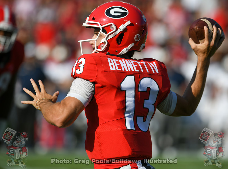 Stetson Bennett (13) during the 2nd quarter of the UGA vs. Murray State game, Saturday, Sept. 7, 2019
