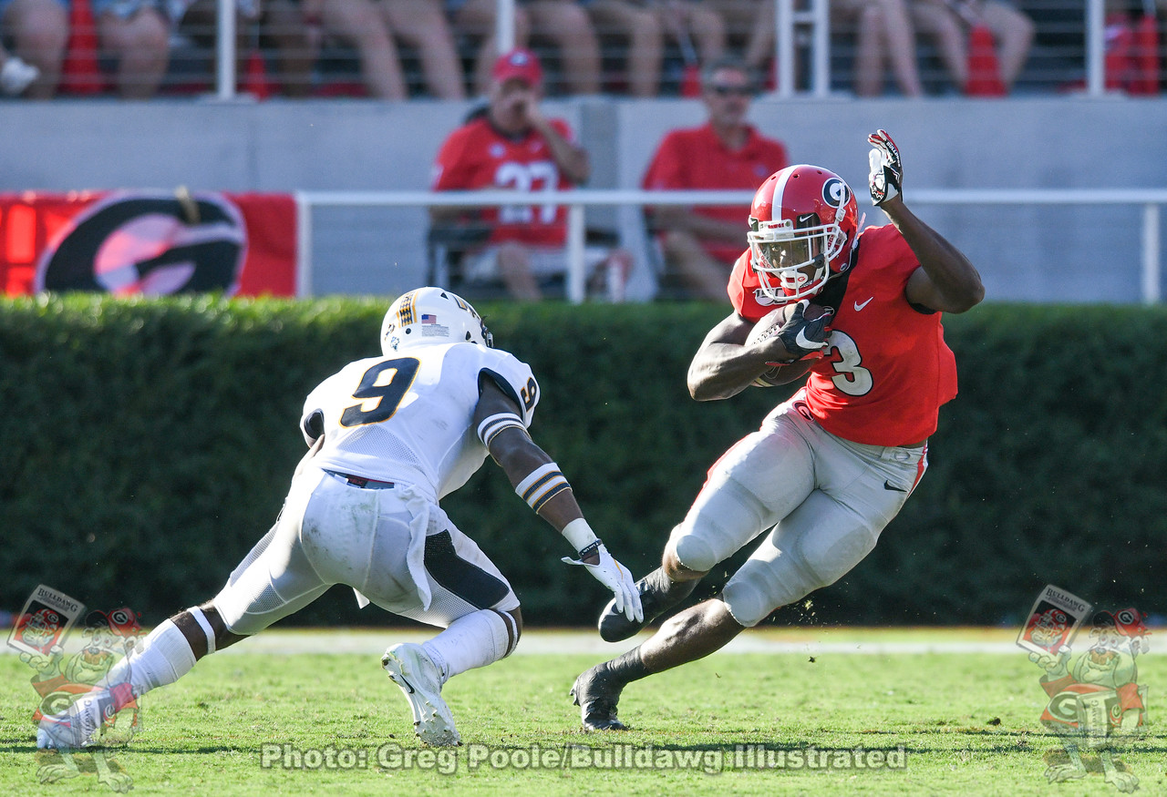 UGA running back Zamir White (3) | Georgia vs. Murray State - Third Quarter | Dooley Field - Sanford Stadium, Athens, GA | Saturday, September 07, 2019