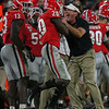 J.R. Reed (20) and Kirby Smart