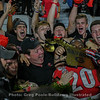 Georgia fans celebrate with safety J.R. Reed after the Bulldogs down the Irish 23-17