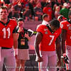 Jake Fromm (11), D'Andre Swift (7) and J.R. Reed (20)