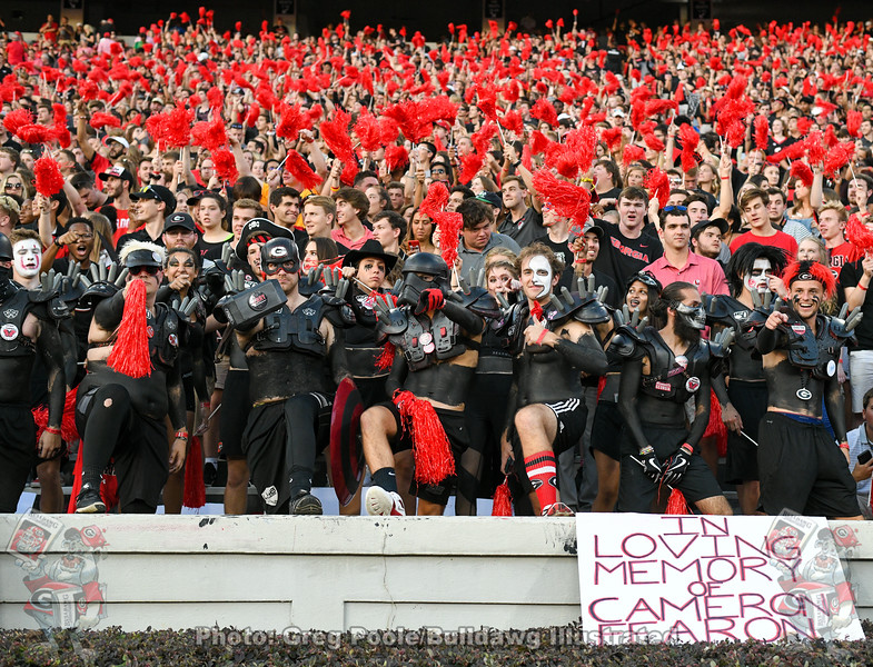 UGA Spike Squad all decked out in black