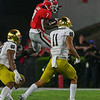 D'Andre Swift (7) leaps over a defender
