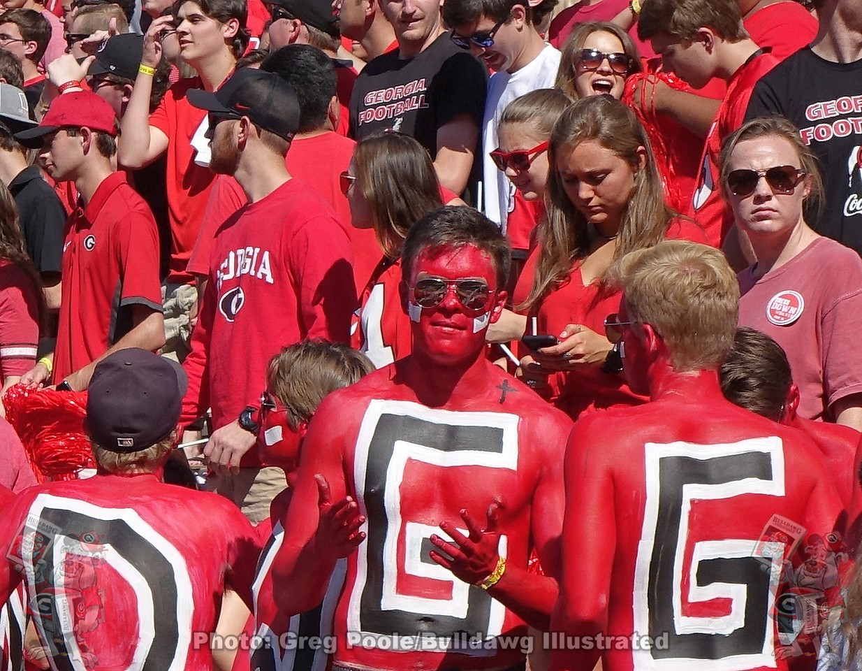 UGA Paint Line during the South Carolina game on Saturday, October 12, 2019
