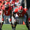 D'Andre Swift (7) and Andrew Thomas (71)