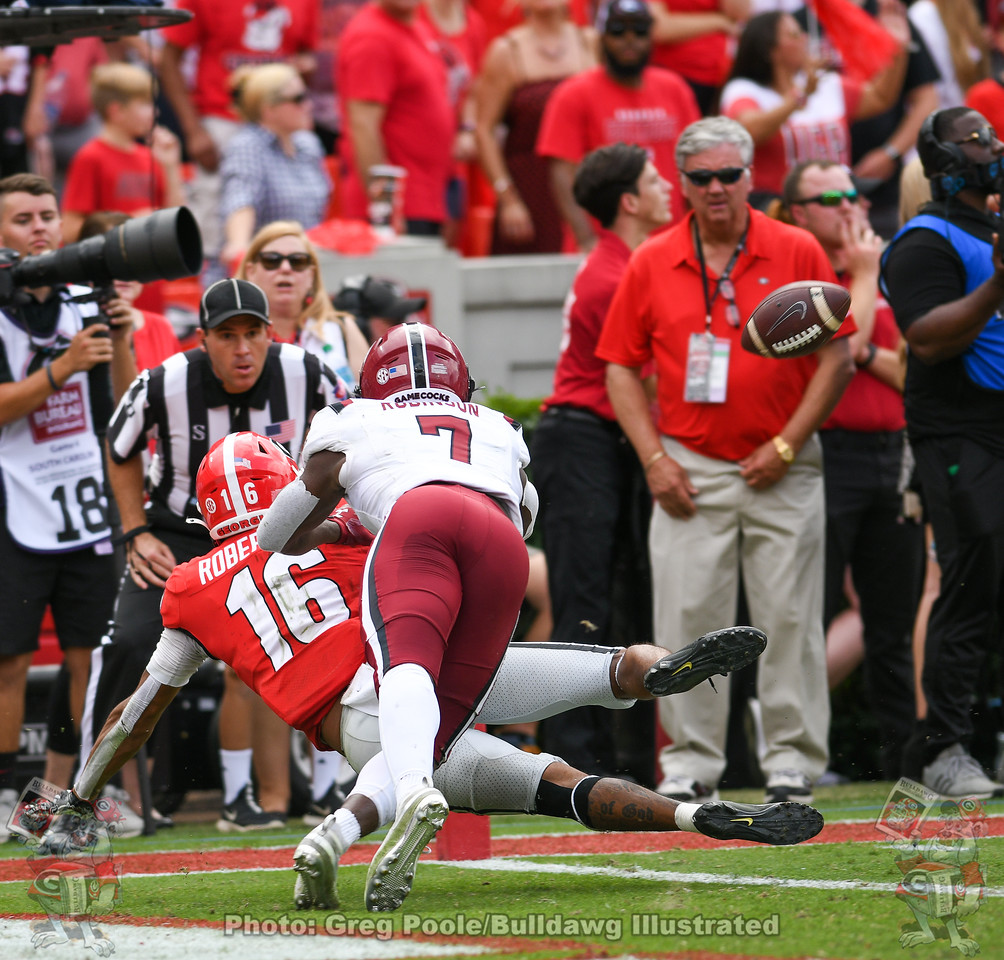 Demetris Robertson (16) during overtime in the South Carolina game,  Saturday, October 12, 2019