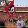 UGA football team takes the Field at Neyland Stadium in Knoxville