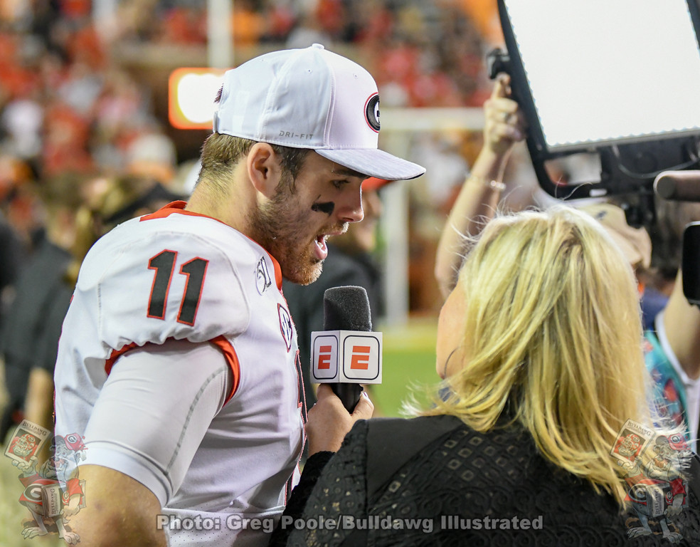 Quarterback Jake Fromm (11),  Georgia vs. Tennessee, Saturday, October 5, 2019