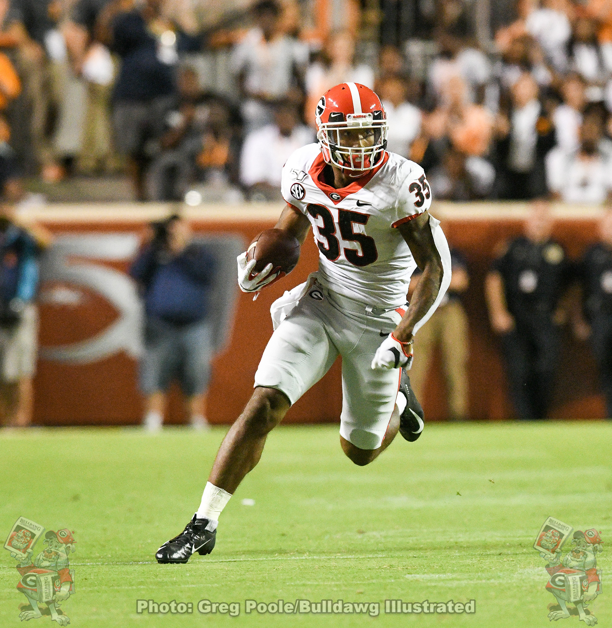 Brian Herrien (35) - Georgia vs. Tennessee 2019 - October 05, 2019 - Second Quarter