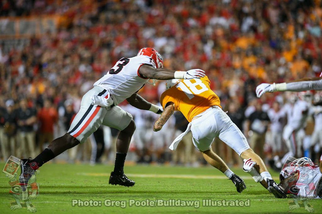 Azeez Ojulari (13),  Georgia vs. Tennessee - Third Quarter,  Saturday, October 05, 2019