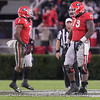D'Andre Swift (7) and Isaiah Wilson (79)