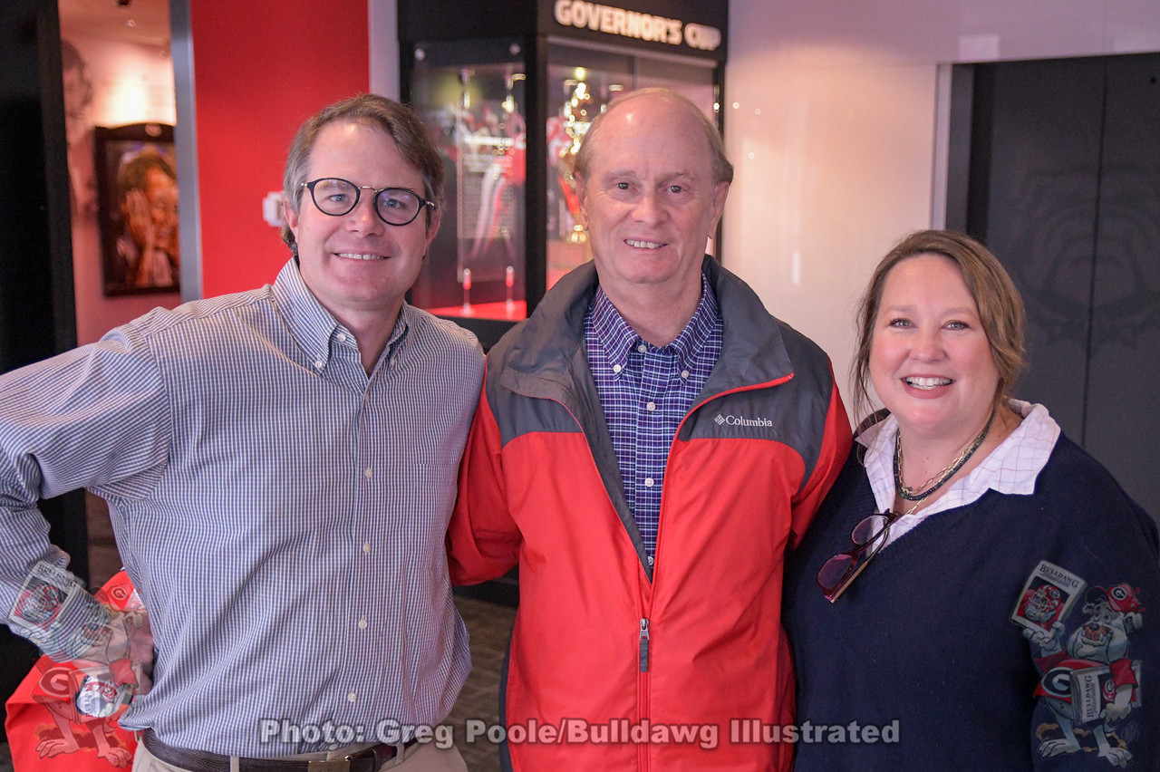 Vance Leavy, Murray Poole, and Cheri Leavy - Butts-Mehre Heritage Hall, UGA, Athens, GA - November 18, 2019