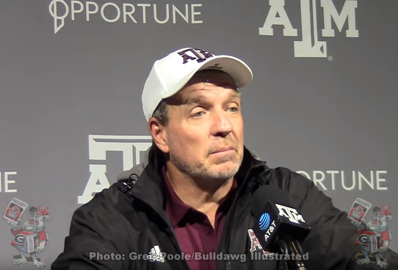 Texas A&M head coach Jimbo Fisher during postgame press conference after the Aggies 19-13 loss to Georgia on Saturday, November 23, 2019