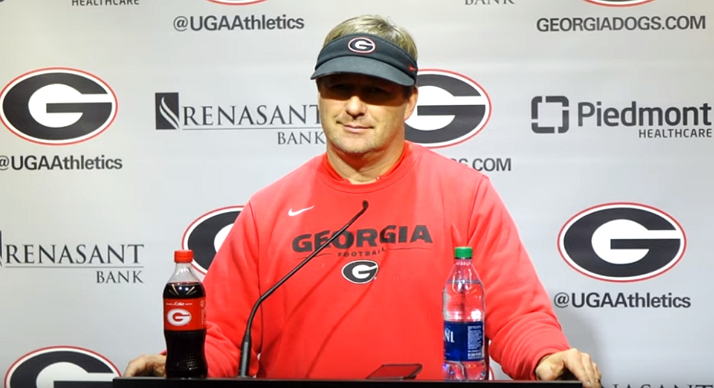 Kirby Smart during Tuesday's post-practice press conference, November 19, 2019