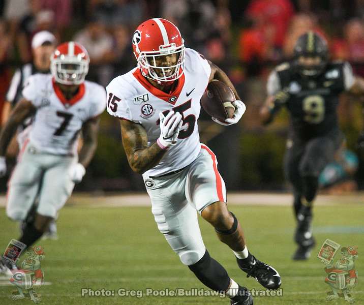 Lawrence Cager (15) during the second quarter of UGA vs. Vanderbilt, Saturday, August 31, 2019