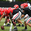 Trey Hill (55) and Jake Fromm (11)