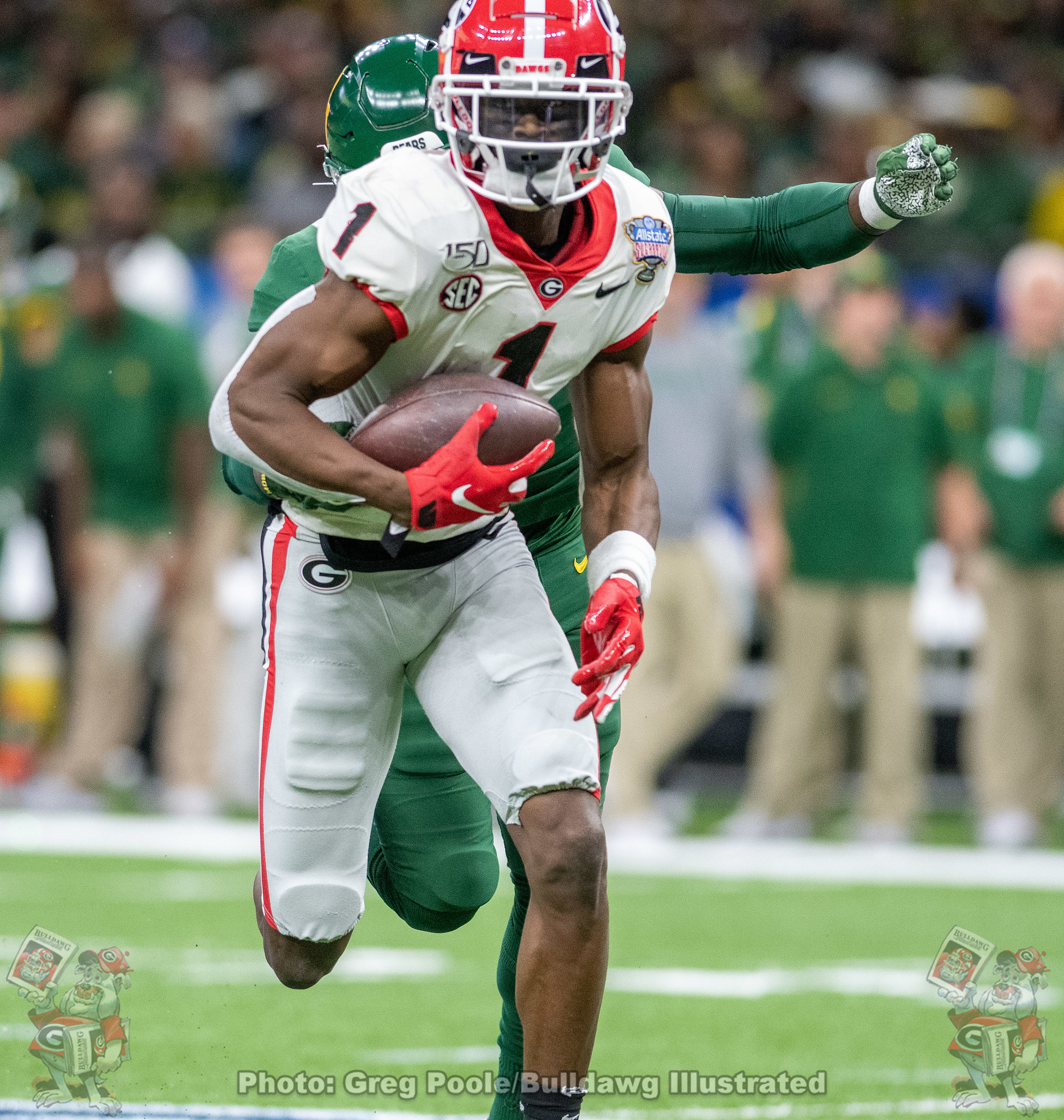 George Pickens (1) - 2020 Sugar Bowl - Georgia vs. Baylor 2020 - First Quarter
