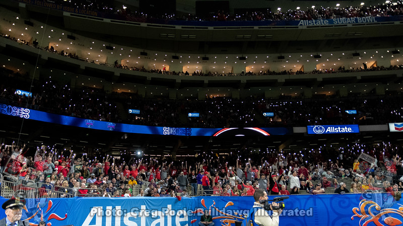 Dawg fans light up the Superdome