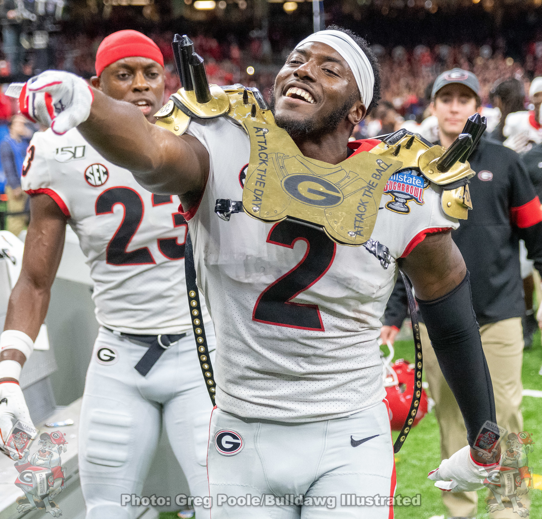 Richard LeCounte (2) - 2020 Sugar Bowl - Georgia vs. Baylor 2020 - Postgame - January 01, 2020