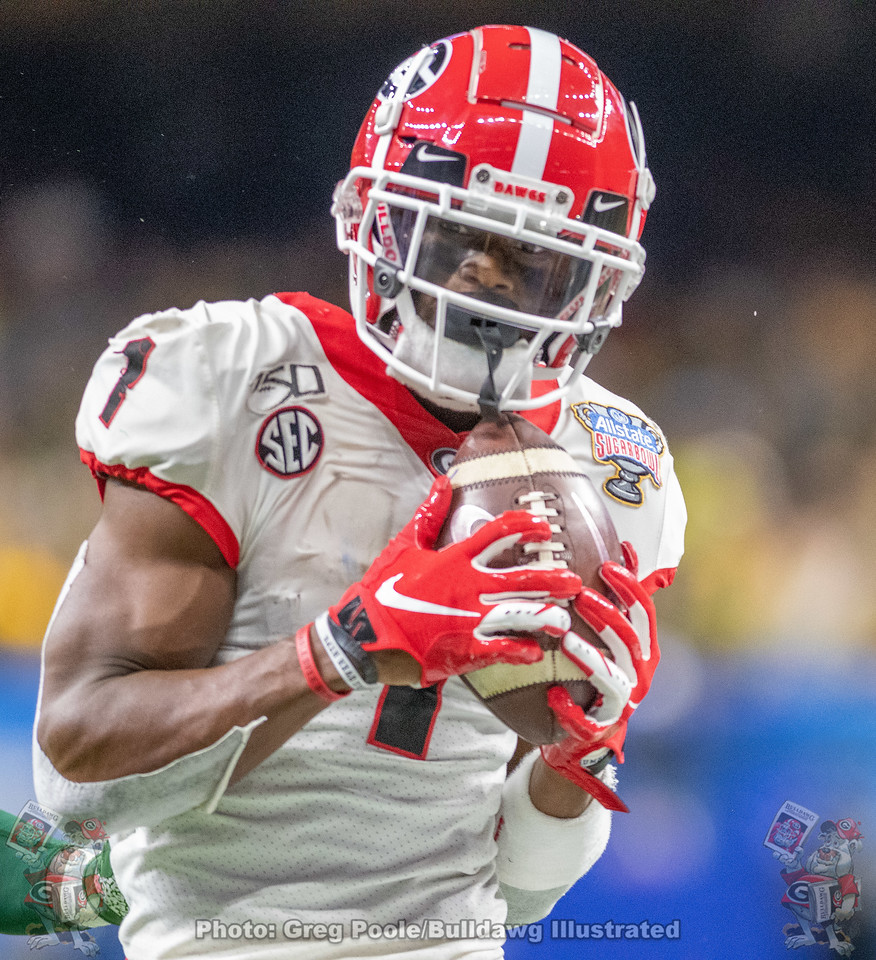 One of Bulldog wide receiver George Pickens' 12 receptions in the Sugar Bowl versus Baylor | New Orleans, LA | Wednesday, January 01, 2020