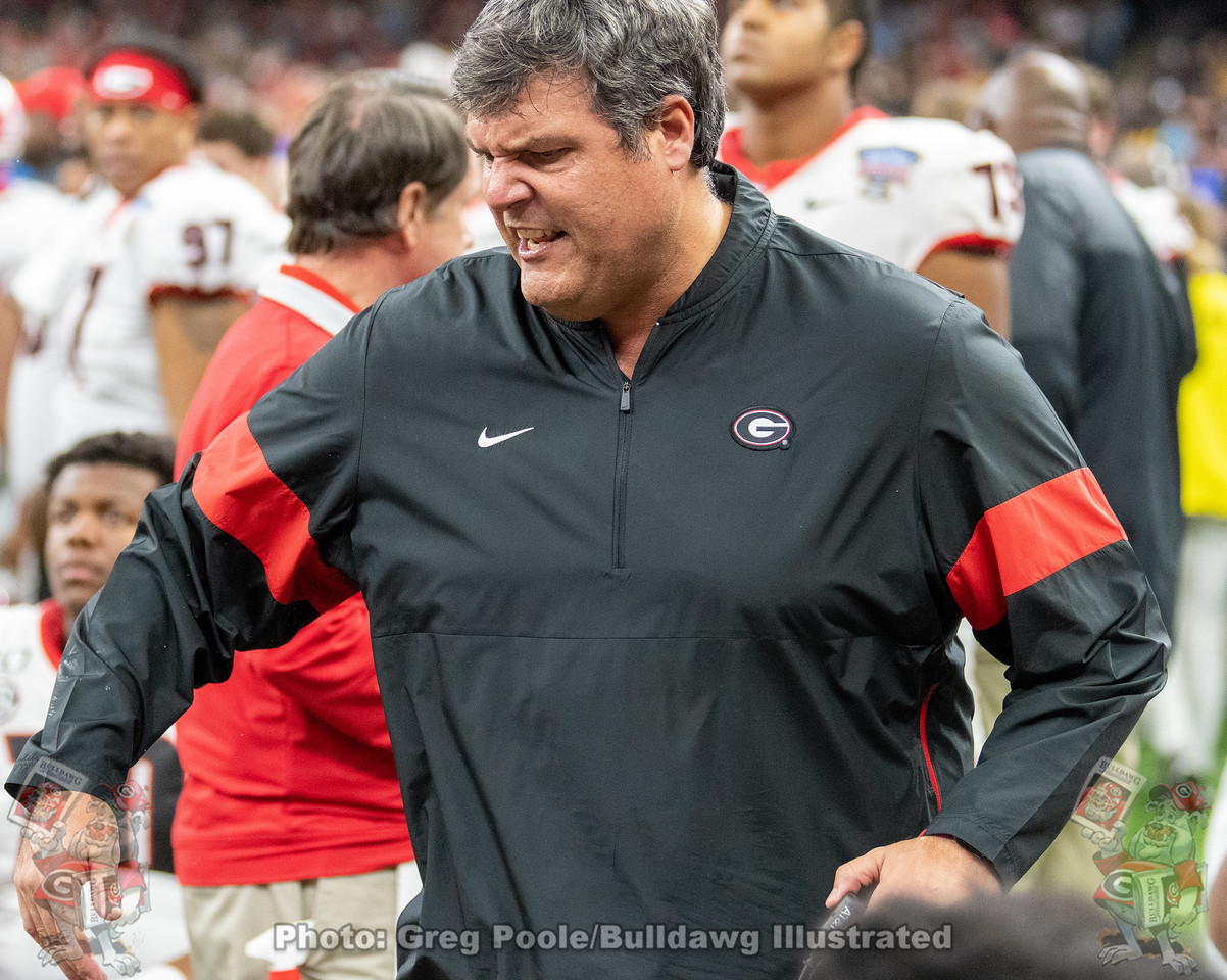 UGA assistant head and offensive line coach Matt Luke | Georgia vs. Baylor Sugar Bowl | New Orleans, LA | Wednesday, January 01, 2020