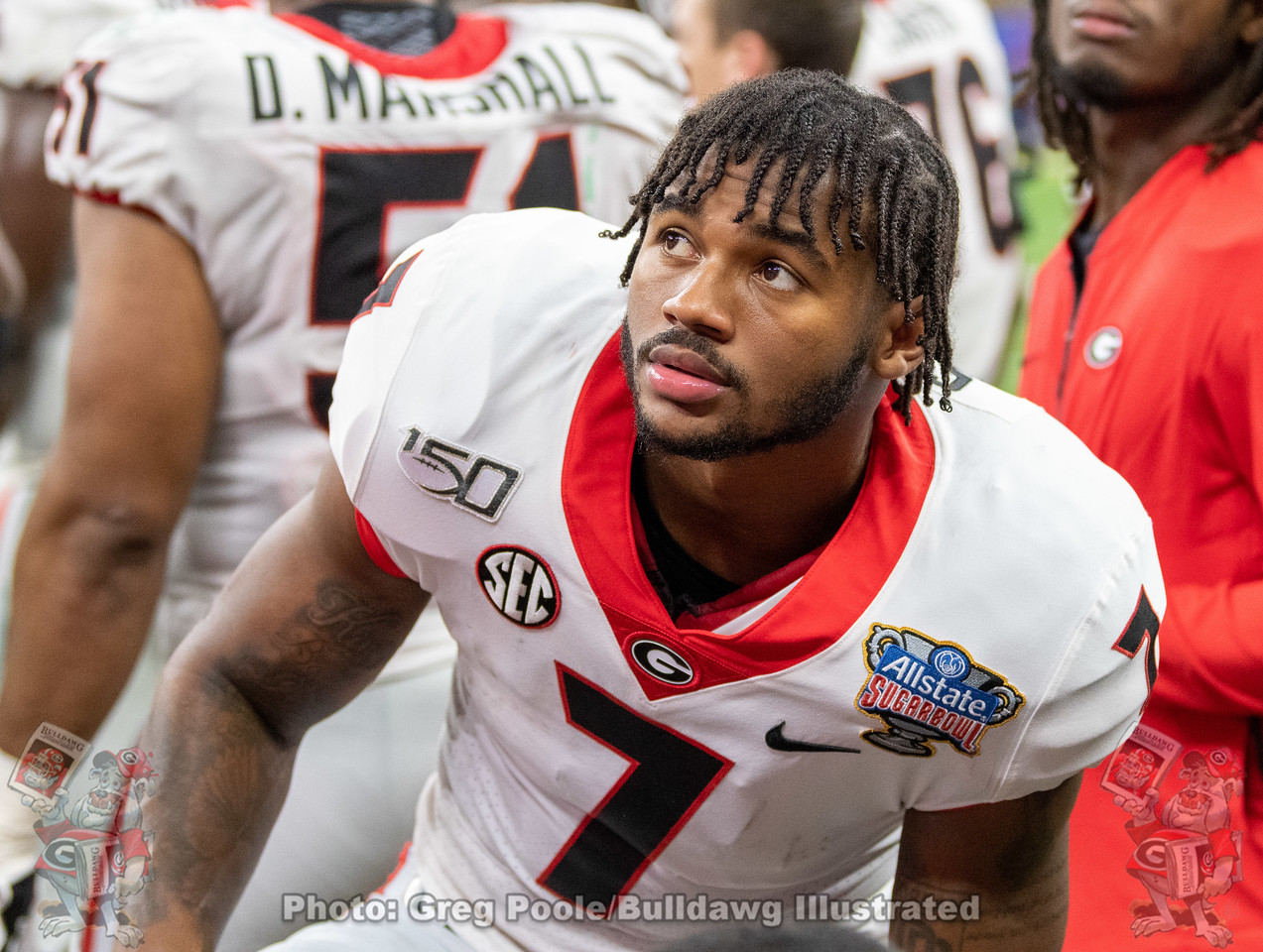 UGA running back D'Andre Swift (7) during the third quarter of the 2020 Sugar Bowl versus Baylor on Wednesday, January 1st in New Orleans, LA at the Mercedes-Benz Superdome.