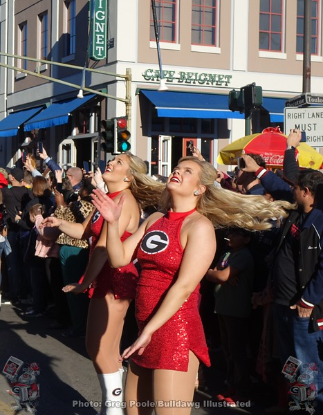 UGA featured twirlers