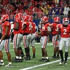 Dawgs D gets ready to defend a field goal attempt by the Tigers