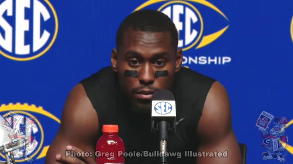 J.R. Reed during Georgia's 2019 SEC Championship postgame press conference on Saturday, December 7, 2019