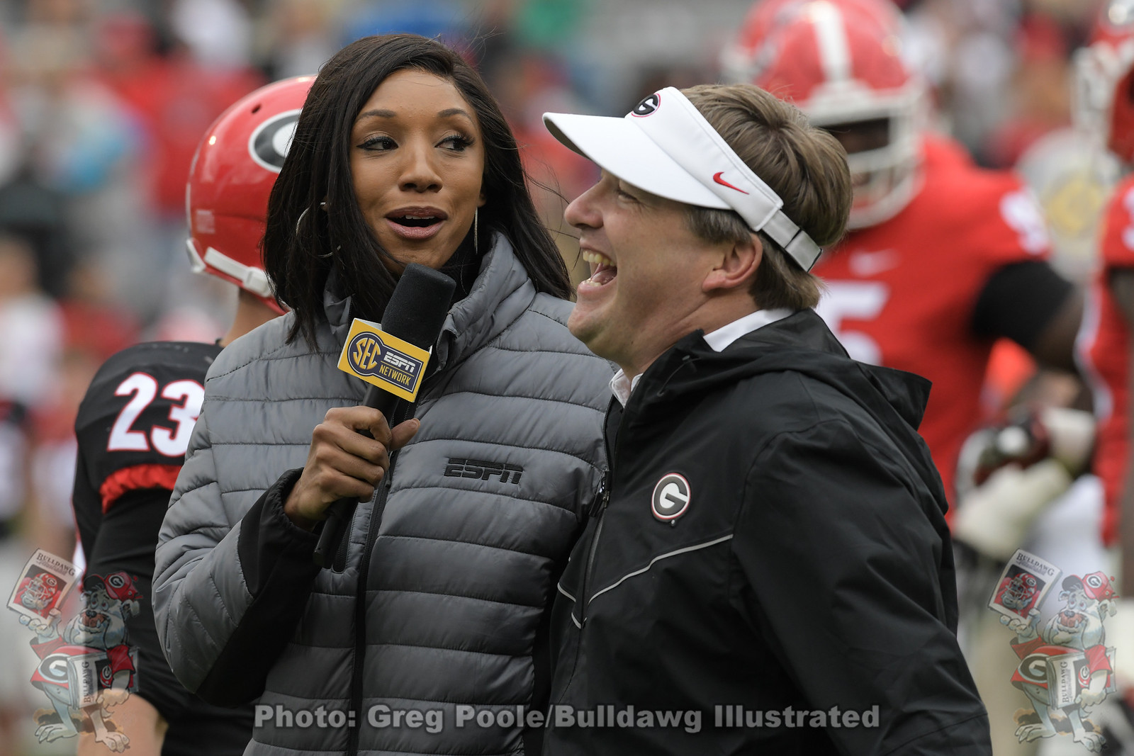 Maria Taylor and Kirby Smart