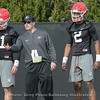 Jake Fromm (11) and D'wan Mathis (2) with Coach James Coley