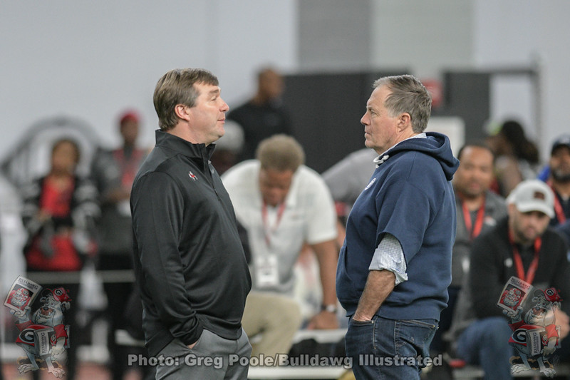 Kirby Smart and Bill Belichick